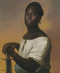 Portrait of a Black Man with a Sword