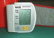 A sphygmomanometer, a device used for measuring arterial pressure.
