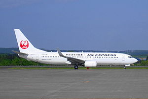 """JAL Express - JAL Express Boeing 737-800 in new """"tsurumaru"""" livery"""
