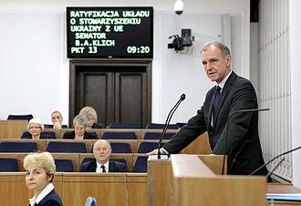 Bogdan Klich - Bogdan Klich during 66th sitting of the Senate (2014)