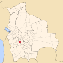 Location of the Rafael Bustillo Province within Bolivia