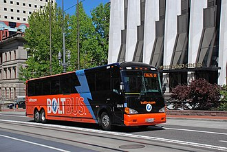 BoltBus - A BoltBus in Portland, Oregon, in 2014
