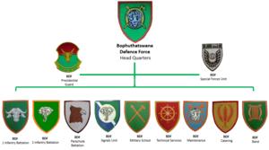 Bophuthatswana Defence Force - Bophuthatswana Defence Force insignia
