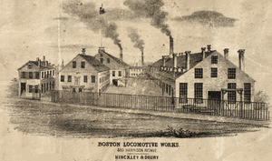 Hinkley Locomotive Works - Boston Locomotive Works in 1852