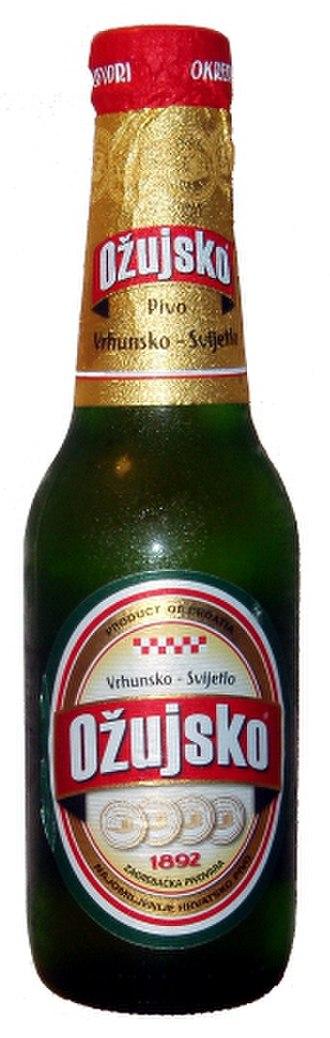 Ožujsko - Image: Bottle of ozujsko
