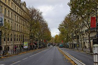 Boulevard Saint-Michel boulevard in Paris, France