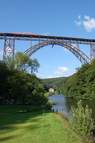 Wupper - Müngsten Bridge between Remscheid and Solingen.