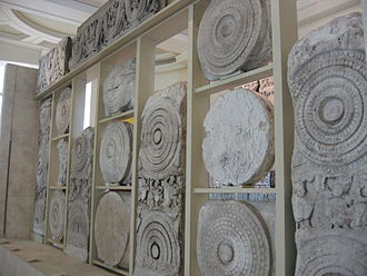 History of Andhra Pradesh - Amaravati Marbles, a series of marble sculptures and inscriptions excavated from the site.