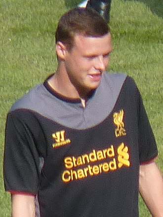 Brad Smith (footballer, born 1994) - Smith playing for Liverpool in 2012