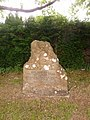 Bradpole, memorial to King Charles II's escape down Lee Lane - geograph.org.uk - 1364325.jpg