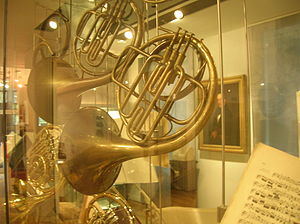 Aubrey Brain - Aubrey Brain's Raoux piston-valve horn on display at the Royal Academy of Music.