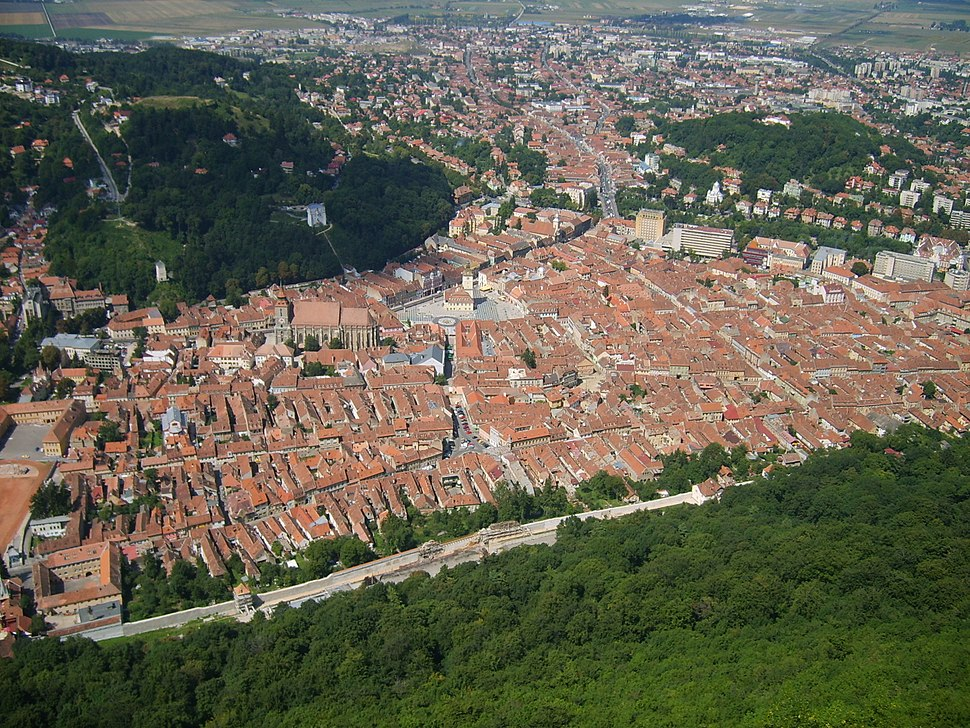 Brasov view from the top of the hill