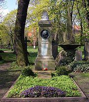 His grave in Braunschweig
