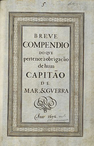 Captain of sea and war - Image: Breve Compendio... Capitão de Mar e Guerra