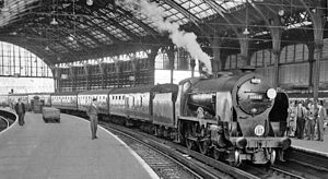 Brighton railway station - Brighton Station interior in 1962