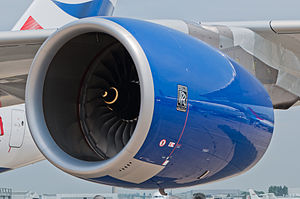British Airways Airbus A380-841 F-WWSK PAS 2013 03 Trent 970 engine.jpg