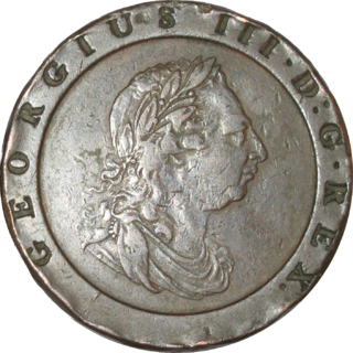 Twopence (British pre-decimal coin) coin worth one one-hundred-and-twentieth of a pound sterling