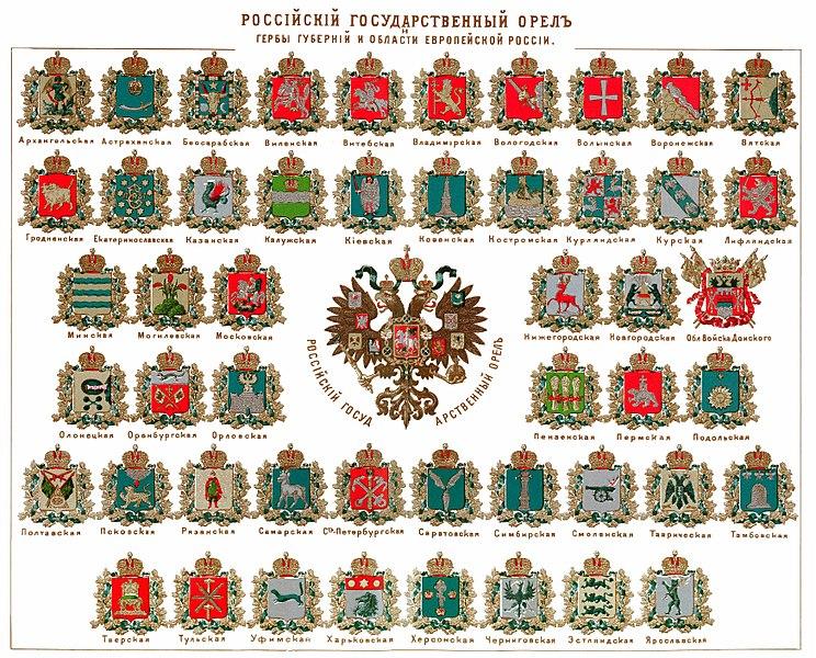 гербы губерний
