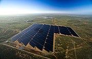 Broken Hill solar plant aerial