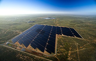 Solar power in Australia - Broken Hill solar plant, New South Wales