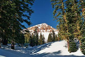Mount Tehama -  Brokeoff Mountain in winter.