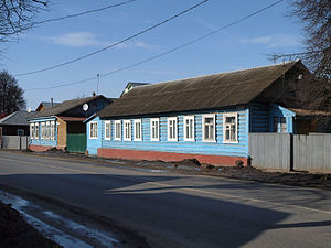 Bronnitsy - Buildings on the main street, the Old Ryzanskaya Highway, built during the early 1950s