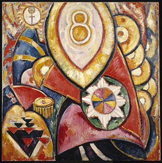 American Abstract Artists - Marsden Hartley (American, 1877–1943). Painting No. 48, 1913. Brooklyn Museum