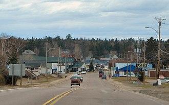 Bruce Mines - Highway 17 through Bruce Mines.