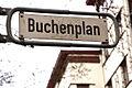 Buchenplan Hannover-List, Liststadt, Straßenschild zum Durchgang an der Podbi.jpg