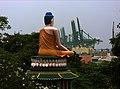 Buddha and the gantries, Haw Par Villa (Tiger Balm Theme Park), Singapore (41377338).jpg
