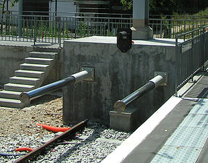 Buffer stop - Energy-absorbing buffer stop in France