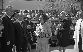 Queen Fabiola of Belgium - Queen Fabiola during her state visit in West Germany (Munich, 1971)