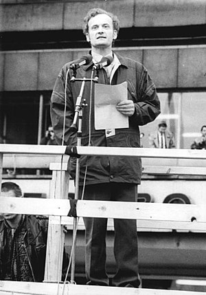 Friedrich Schorlemmer - At the Alexanderplatz demonstration, Berlin, 4 November 1989