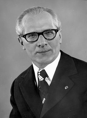 National Defence Council chairman Erich Honecker