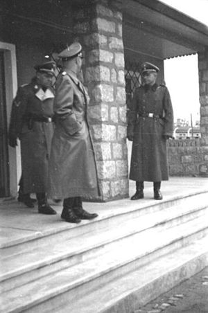 German camp brothels in World War II - Heinrich Himmler inspecting the camp brothel in Mauthausen/Gusen