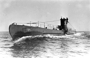 German submarine U-35 (1936) - U-36, a U-boat that was almost identical to U-35, during training exercises in 1936