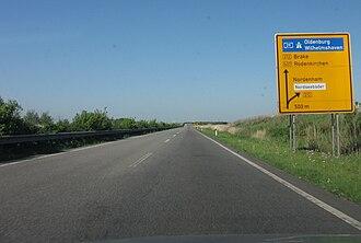 Bundesstraße - German Bundesstraße 437 near Stadland