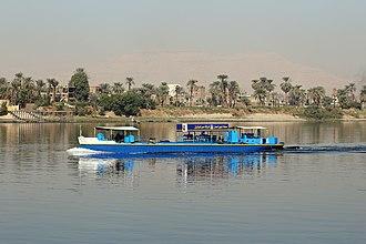 Bunkering - Bunkering tanker on the Nile near Luxor, Egypt