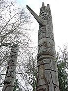 Burke Museum totem poles 01