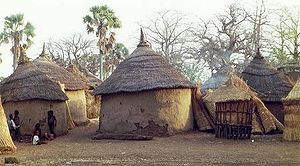 Huts in the village of Dourtenga, departement ...