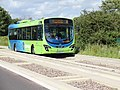 Bus on the Cambridgeshire Guided Busway, near Trumpington, Cambridgeshire, England 2.jpg