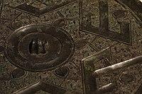 CMOC Treasures of Ancient China exhibit - bronze mirror, detail.jpg