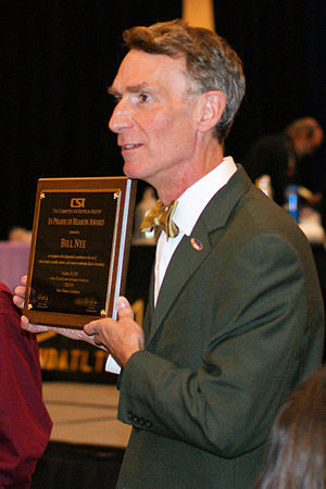 """CSICon - Bill Nye received the """"In Praise of Reason"""" Award at CSICon 2011."""