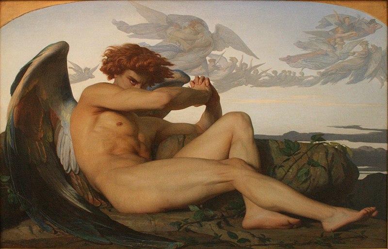L'Ange déchu du peintre Alexandre Cabanel