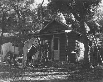 Rancho Sierra Vista - Cabin at Live Oaks Spring, Rancho Sierra Vista, January 5, 1939