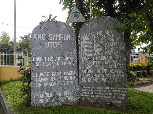The Ten Commandments in Tagalog. CalauanChurchjf4373 11.JPG