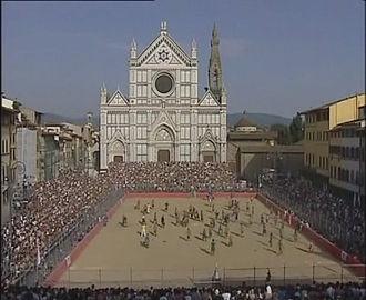 Calcio Fiorentino - Field in Piazza Santa Croce.