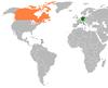 Lage von Deutschland und Kanada
