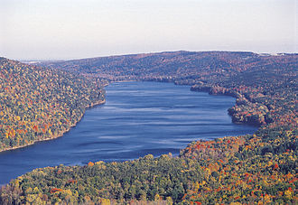 Finger Lakes - Canadice Lake is surrounded by the Hemlock-Canadice State Forest