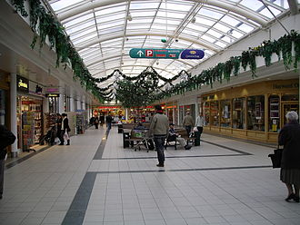 Cannon Park - Cannon Park shopping centre - covered walkway with Christmas decorations in December 2007